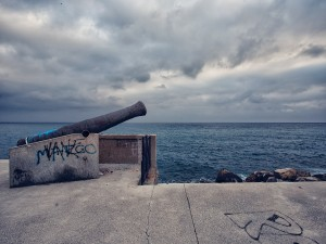 Cannon overlooking the sea