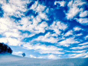 The sky before Prato Nevoso