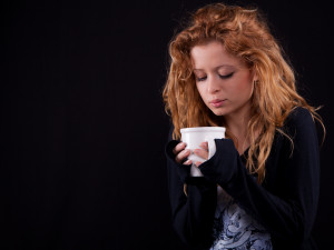 Jessica and her cup of coffee #02