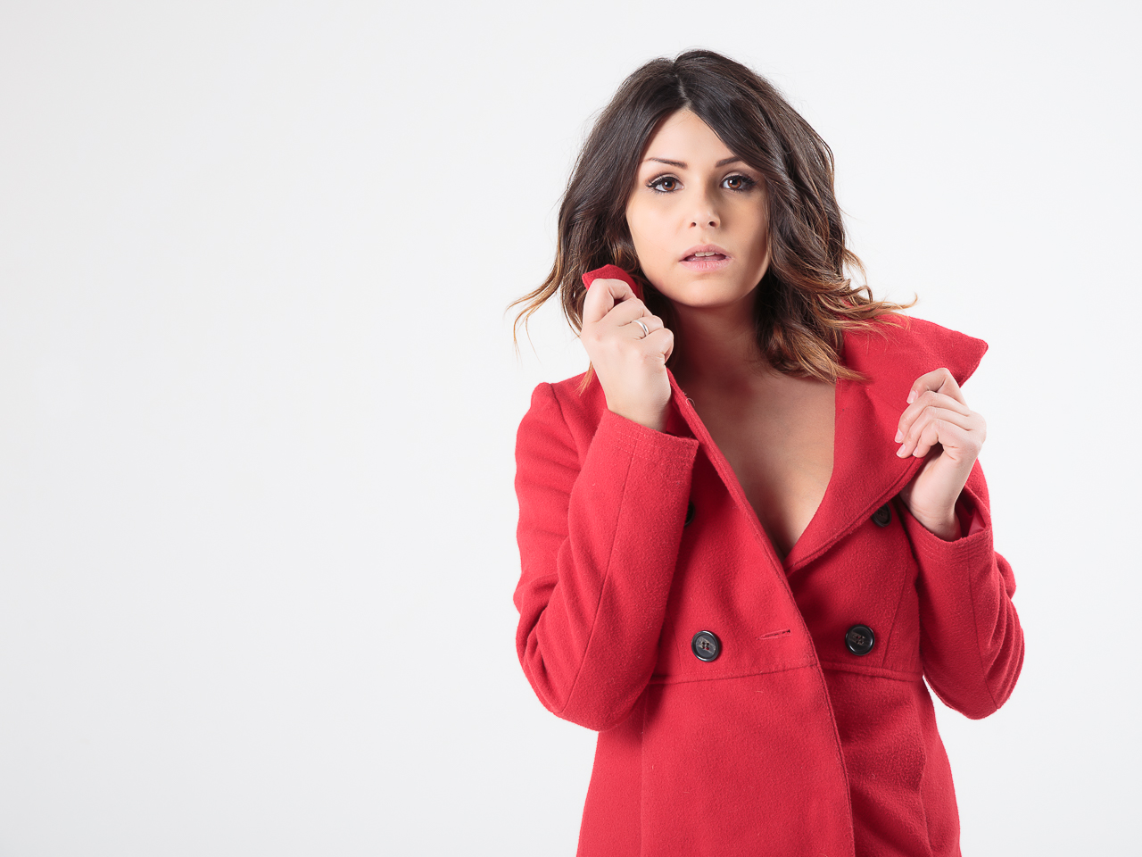 Denise with the red coat #01