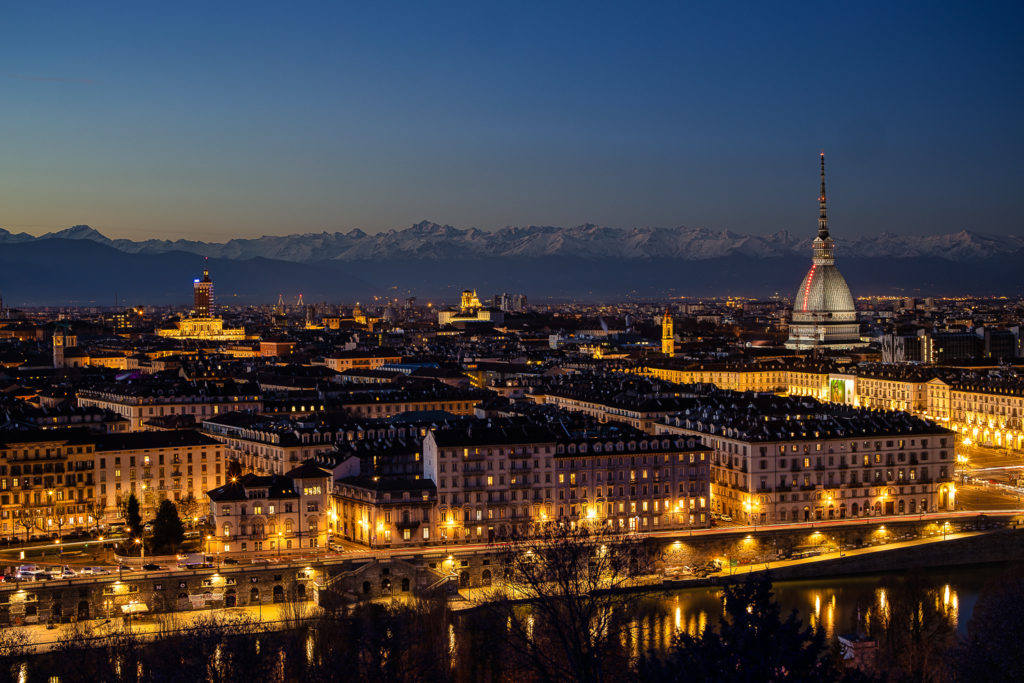 Torino by evening (panorama)