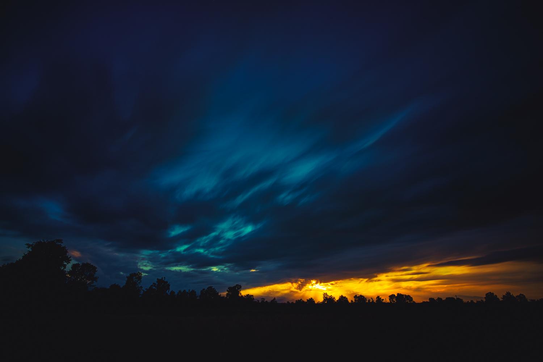 Il tramonto sopra Beinette